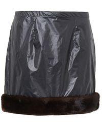 Christopher Kane Fur-trim Mini Skirt - Lyst