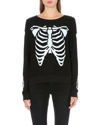 Wildfox Skeleton Jersey Jumper - Lyst