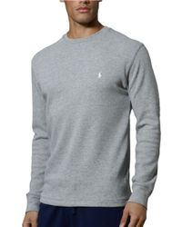 Polo Ralph Lauren Long Sleeve Thermal Crew - Lyst