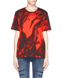 Maje Glacial Smoke Print T-Shirt - Lyst