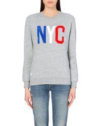 Chocoolate - I.T Nyc Cotton-Jersey Sweatshirt - For Women - Lyst