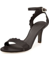 Chloé Scalloped Leather Sandal - Lyst
