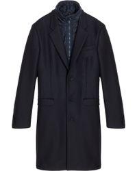 Acne Studios Waistcoat Inserted Overcoat - Lyst