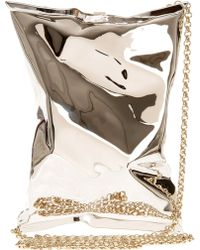 Anya Hindmarch Crisp Packet in Metal - Lyst