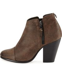 Rag & Bone Margot Leather Zip Ankle Bootie - Lyst