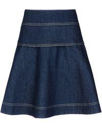 See By Chloé Blue Denim Skirt - Lyst