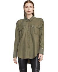 BCBGMAXAZRIA - Bcbg Jaison Cold-shoulder Shirt - Lyst