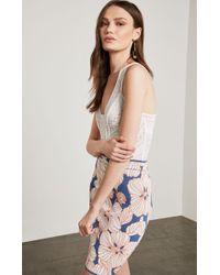 BCBGMAXAZRIA - Bcbg Natalee Puckered Floral Jacquard Skirt - Lyst