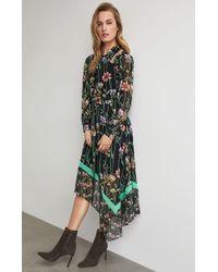 BCBGMAXAZRIA - Bcbg Botanical Asymmetrical Cutout Dress - Lyst
