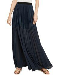 BCBGMAXAZRIA - Bcbg Tisa Colorblocked Pleated Maxi Skirt - Lyst