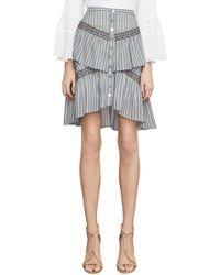 BCBGMAXAZRIA - Bcbg Tiered Ruffle Stripe Skirt - Lyst