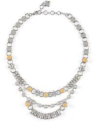 BCBGMAXAZRIA - Bcbg Chain-link Stone Necklace - Lyst