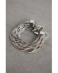 BCBGMAXAZRIA - Bcbg Geometric Multichain Toggle Bracelet - Lyst