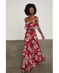 BCBGMAXAZRIA - Off-the-shoulder Floral Maxi Dress - Lyst
