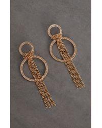 BCBGMAXAZRIA - Bcbg Knot Chain Hoop Earring - Lyst