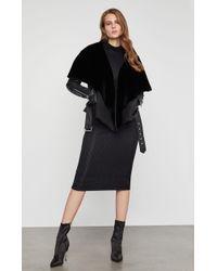 BCBGMAXAZRIA - Bcbg Jade Leather Capelet Jacket - Lyst