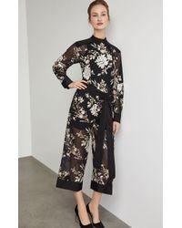 BCBGMAXAZRIA - Bcbg Embroidered Floral Sequin Jumpsuit - Lyst