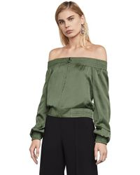 BCBGMAXAZRIA | Marco Off-the-shoulder Bomber Jacket | Lyst