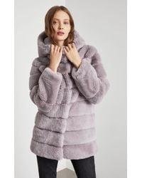 BCBGMAXAZRIA - Bcbg Felicia Faux Fur Hooded Coat - Lyst