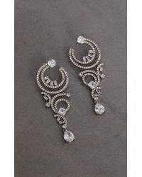 BCBGMAXAZRIA - Bcbg Multi Curl Hoop Crystal Earring - Lyst