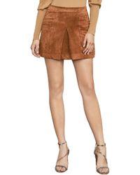 BCBGMAXAZRIA - Corinne Faux-suede Mini Skirt - Lyst