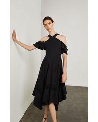 BCBGMAXAZRIA - Bcbg Off-the-shoulder Handkerchief Dress - Lyst