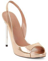 BCBGMAXAZRIA - Prue Metallic Leather Court Shoes - Lyst