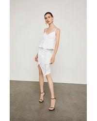 BCBGMAXAZRIA - Asymmetrical Lace Pencil Skirt - Lyst