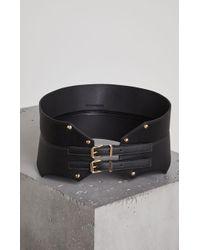 BCBGMAXAZRIA - Faux Leather Contour Belt - Lyst