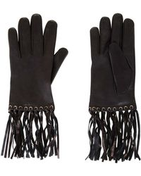 BCBGMAXAZRIA - Fringe Leather Gloves - Lyst