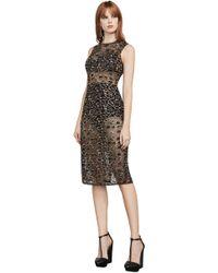 BCBGMAXAZRIA - Bcbg Riley Metallic Leopard Lace Dress - Lyst