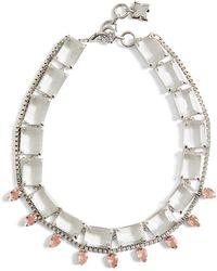 BCBGMAXAZRIA - Bcbg Layered Stone Necklace - Lyst