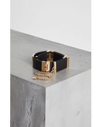 BCBGMAXAZRIA - Bcbg Faux-leather Patchwork Chain Belt - Lyst