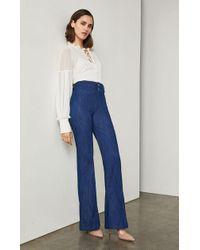 BCBGMAXAZRIA - Pintuck Flared Jeans - Lyst