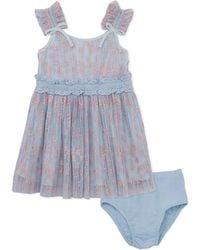 BCBGMAXAZRIA - Bcbg Flocked Dress And Panty Set - Lyst