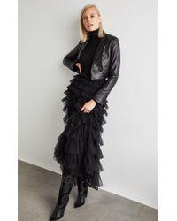 BCBGMAXAZRIA - Bcbg Tiered Ruffle Maxi Skirt - Lyst