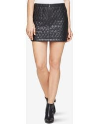 BCBGMAXAZRIA - Bcbg Dotty Quilted Faux-leather Skirt - Lyst