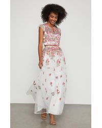 BCBGMAXAZRIA - Bcbg Floral Embroidered Maxi Skirt - Lyst
