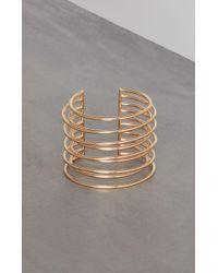 BCBGMAXAZRIA - Bcbg Multi Row Cuff Bracelet - Lyst