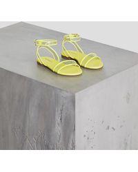 81f8d4ea41bc Lyst - Women s BCBGMAXAZRIA Flat sandals On Sale