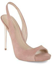 BCBGMAXAZRIA - Prue Suede Court Shoes - Lyst