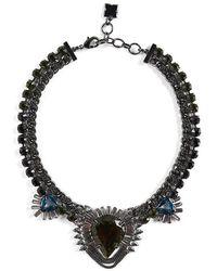 BCBGMAXAZRIA - Statement Stone Evening Necklace - Lyst