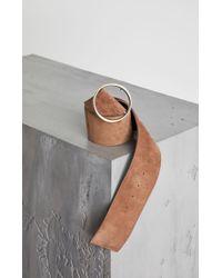 BCBGMAXAZRIA - Nubuck Leather Panel Belt - Lyst