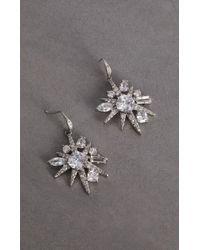BCBGMAXAZRIA - Bcbg Crystal Cluster Drop Earring - Lyst