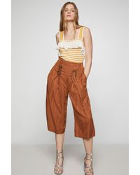 BCBGeneration - Lace-up Cropped Pant - Lyst