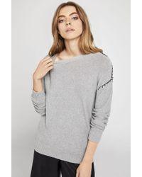 BCBGeneration - Long-sleeve Cotton Sweater - Lyst