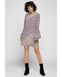 BCBGeneration - Antique Paisely Smocked Dress - Lyst