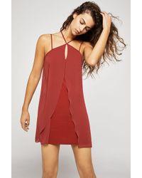 BCBGeneration - Strappy Twofer Mini Dress - Lyst