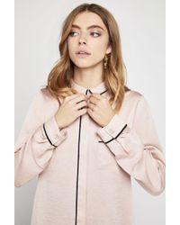 BCBGeneration - Long-sleeve Satin Pyjama Shirt - Lyst