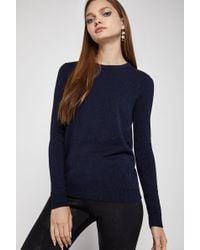 BCBGeneration - Cotton Surplice Sweater - Lyst